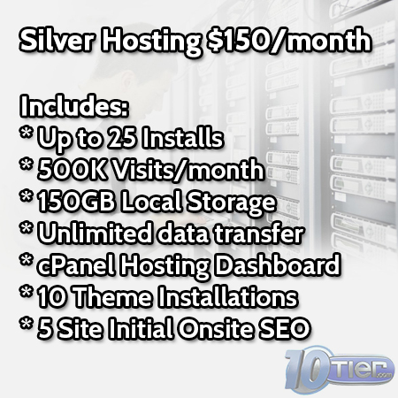 WordPress Sliver Hosting