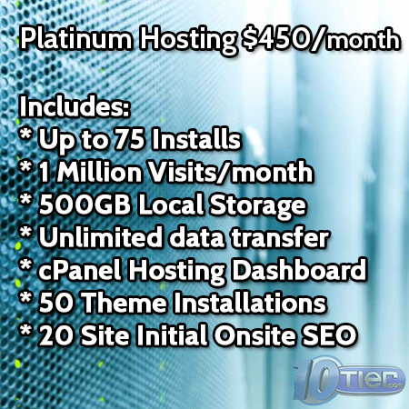 WordPress Platinum Hosting