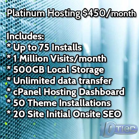WordPress Platinum Hosting