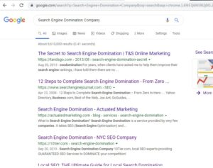 Search Engine Domination Company